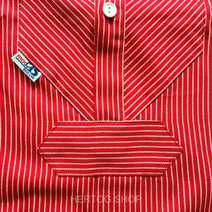 Modas Vissershemd 'BasicLine' in rood/wit gestreept