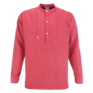 Modas Vissershemd 'BasicLine'  - rood/wit