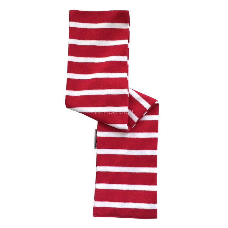 Modas Babysjaal met Bretonse strepen - rood /wit