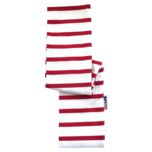 Modas Bretonse babysjaal   Wit-rood