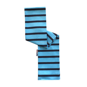 Modas Babysjaal met Bretonse strepen - lichtblauw/marineblauw