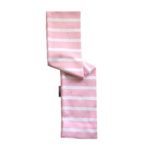 Modas Bretonse babysjaal   Roze-Wit