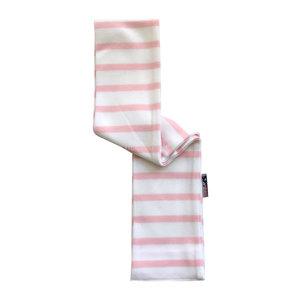 Modas Babysjaal met Bretonse strepen - wit/roze