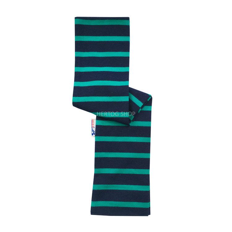 Modas Babysjaal met Bretonse strepen - marineblauw/groen