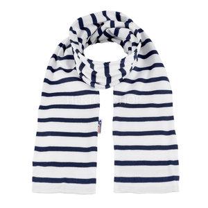 Modas Bretonse kindersjaal  Wit-marineblauw
