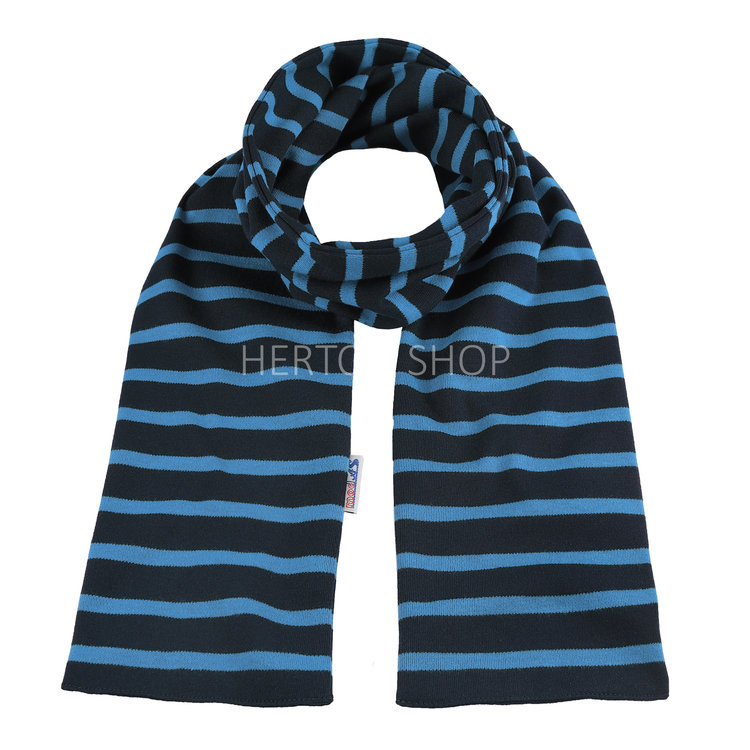 Modas Kindersjaal met Bretonse strepen - marineblauw/lichtblauw