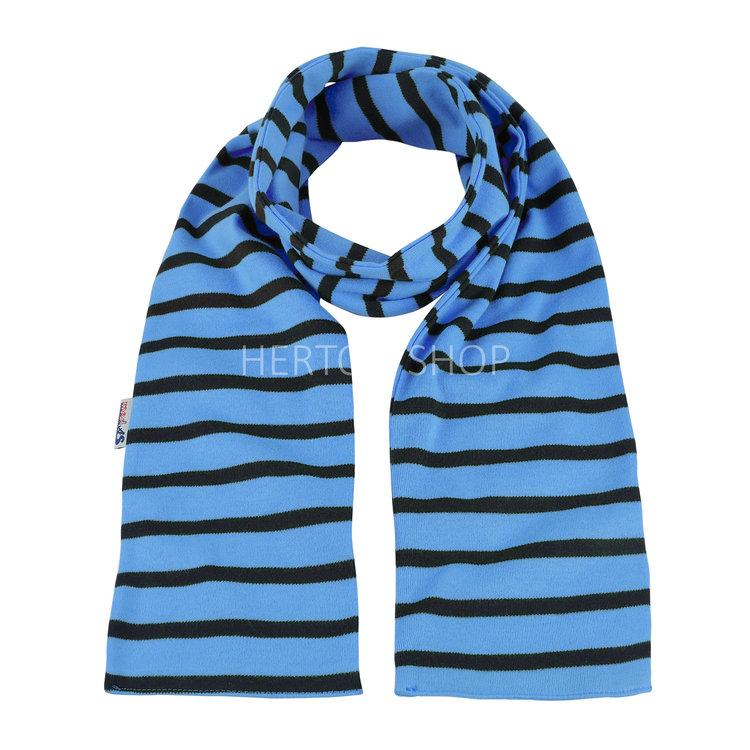 Modas Kindersjaal met Bretonse strepen - lichtblauw/marineblauw