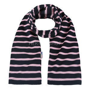 Modas Bretonse kindersjaal  Marineblauw-roze