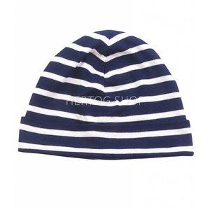 Modas Bretonse kindermuts Marineblauw - wit
