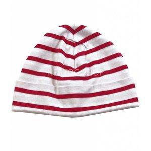Modas Bretonse kindermuts Wit-rood