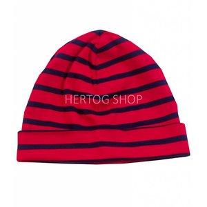 Modas Bretonse kindermuts Rood - marineblauw