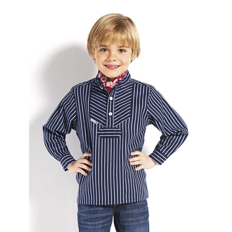 Modas Kinder-vissershemd in brede strepen