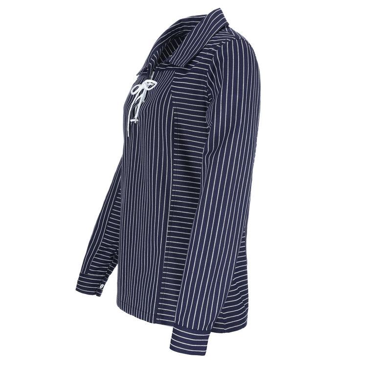 Modas Dames Takelhemd met koordsluiting, 2 streepdessins