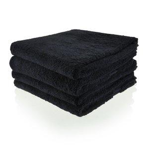 Funnies Handdoek zwart met geborduurde naam of tekst
