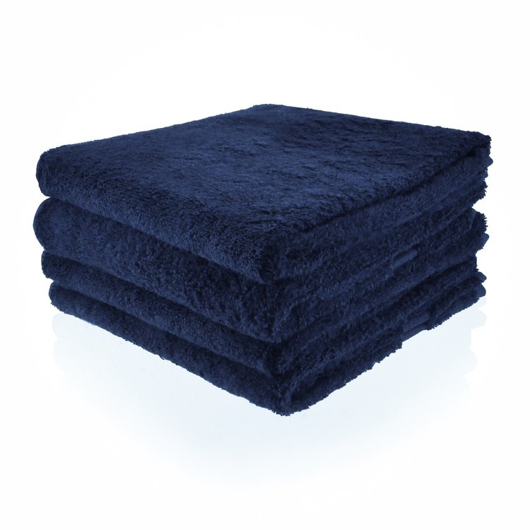 Funnies  Handdoek donkerblauw met geborduurde naam of tekst