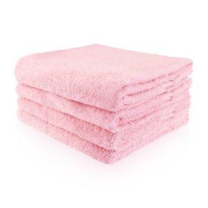 Funnies Handdoek roze met naam of tekst