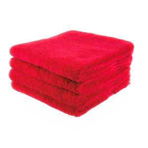 Funnies  Handdoek rood met geborduurde naam of tekst