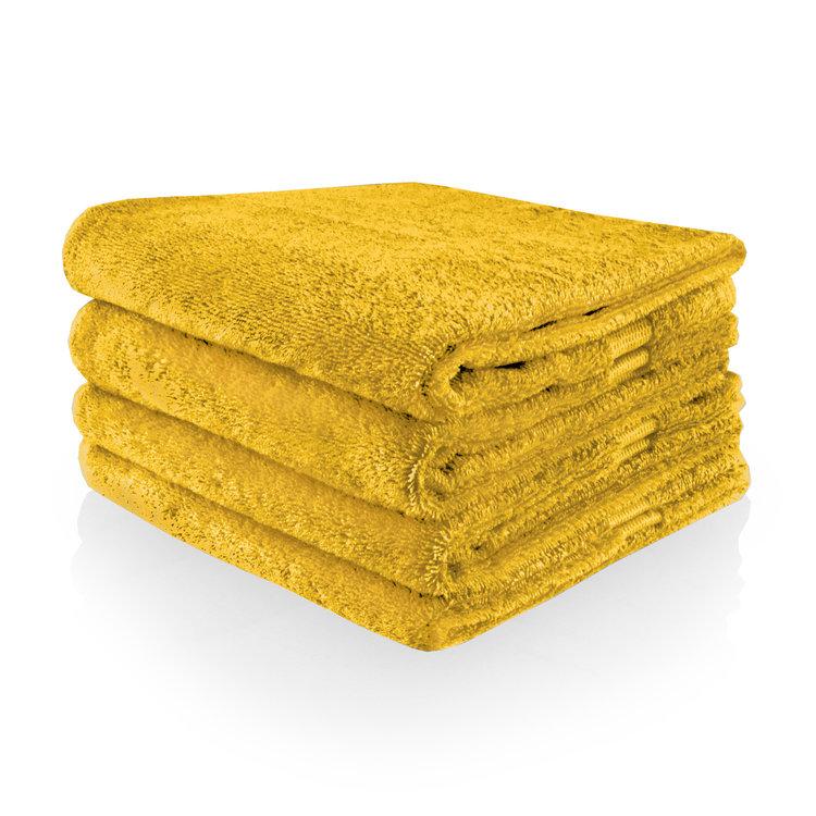Funnies  Handdoek oker met geborduurde naam of tekst