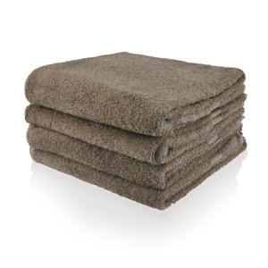 Funnies  Handdoek taupe met geborduurde naam of tekst