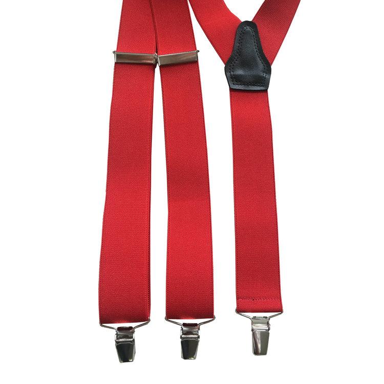 Bretels elastiek Rood 35mm breed