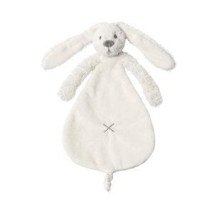 Happy Horse Rabbit Richie knuffeldoekje Wit met geborduurde naam