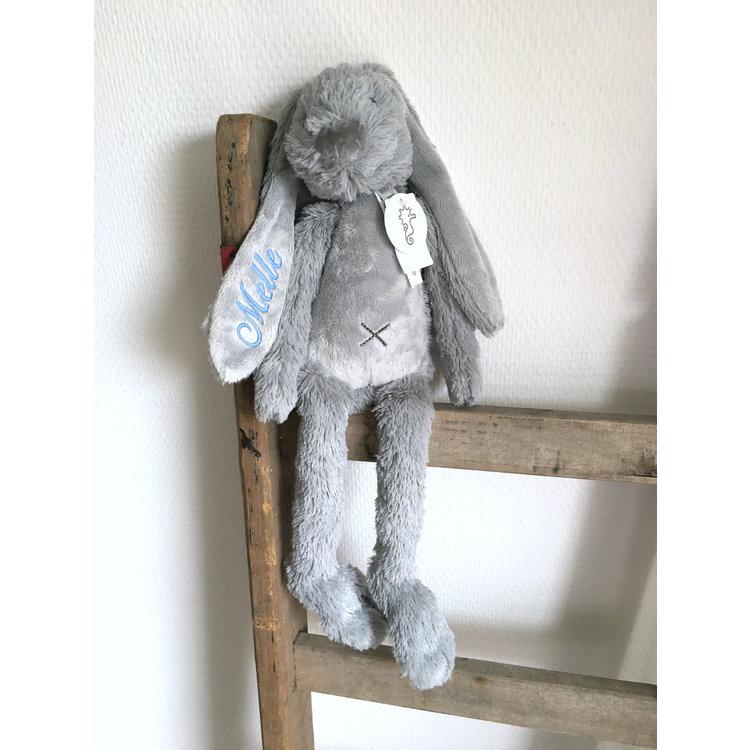 Happy Horse Rabbit Richie Tiny Grijs met geborduurde naam