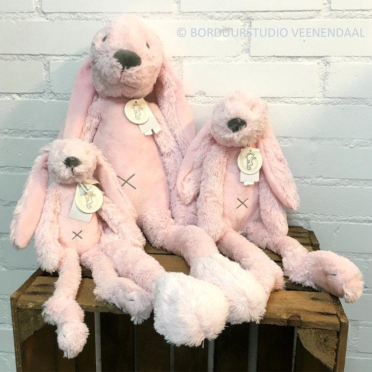 Happy Horse Rabbit Richie Original Roze met geborduurde naam