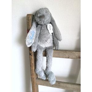 Happy Horse Rabbit Richie Original Grijs met geborduurde naam