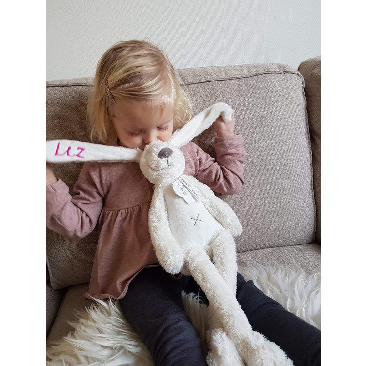 Happy Horse Rabbit Richie Original Wit met geborduurde naam
