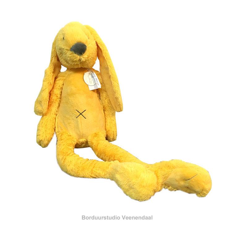 Happy Horse Rabbit Richie Big Geel met geborduurde naam