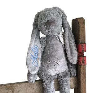 Happy Horse Rabbit Richie Big Grijs met geborduurde naam
