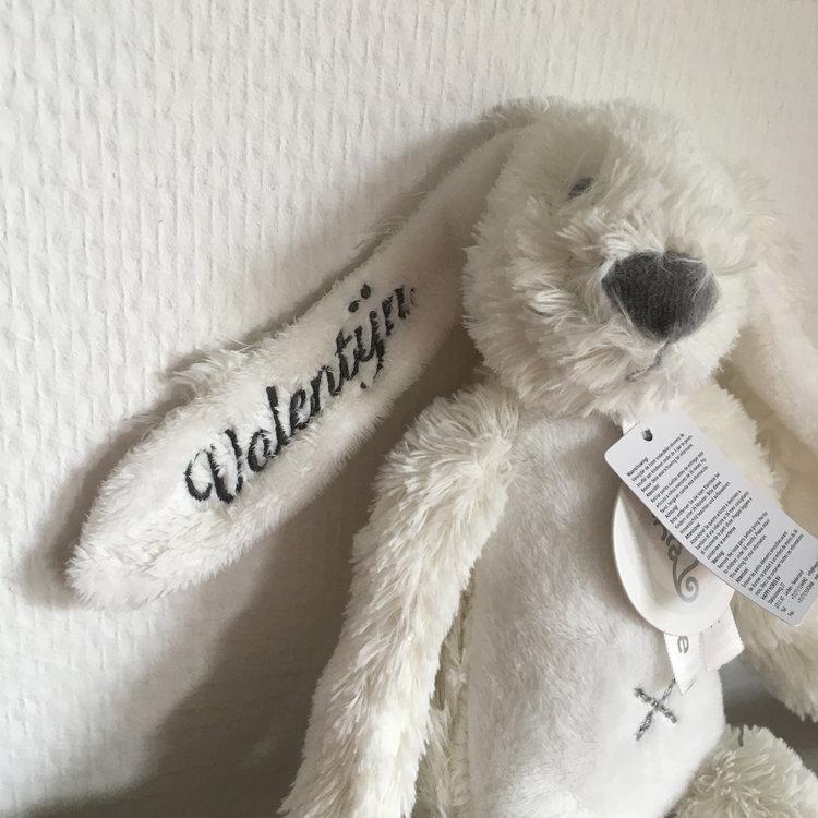 Happy Horse Rabbit Richie Big Wit met geborduurde naam