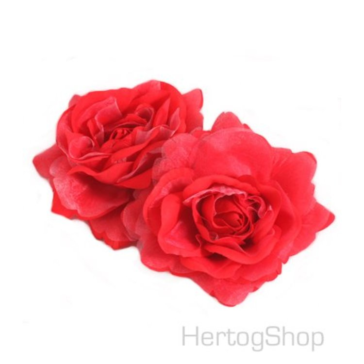 Corsage bloem, rood