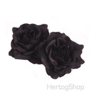 Corsage bloem, zwart