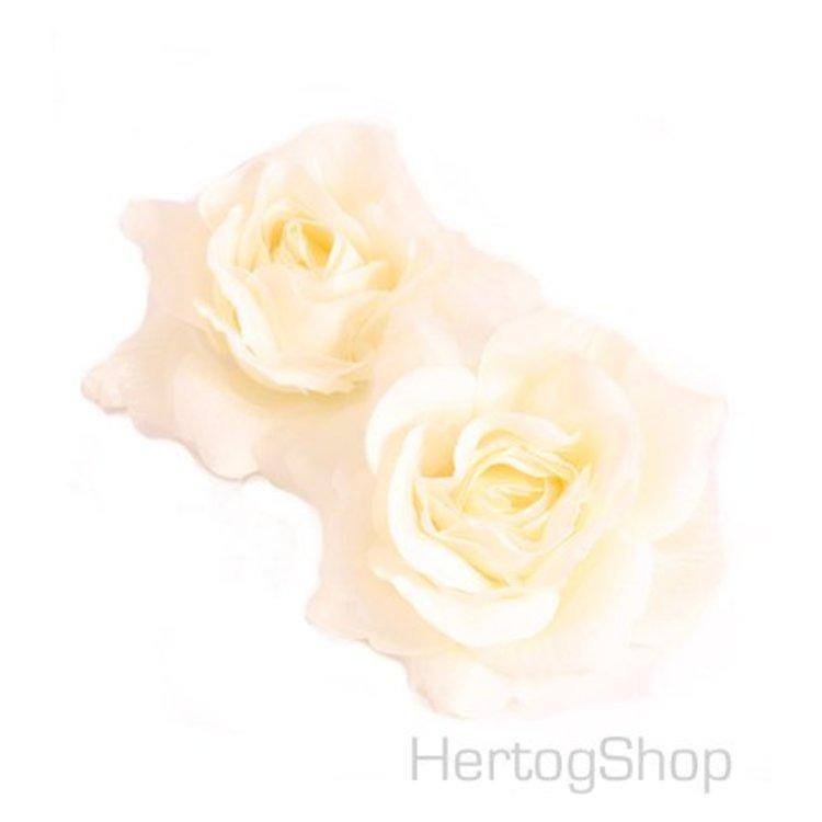 Corsage bloem, roomwit