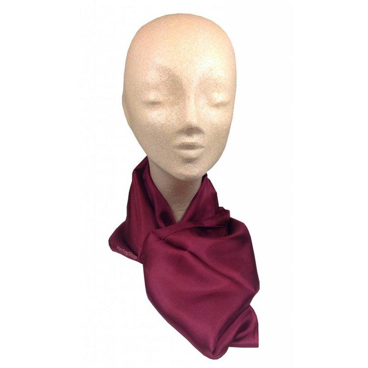 Luxe zijden sjaal in verschillende formaten - Bordeaux