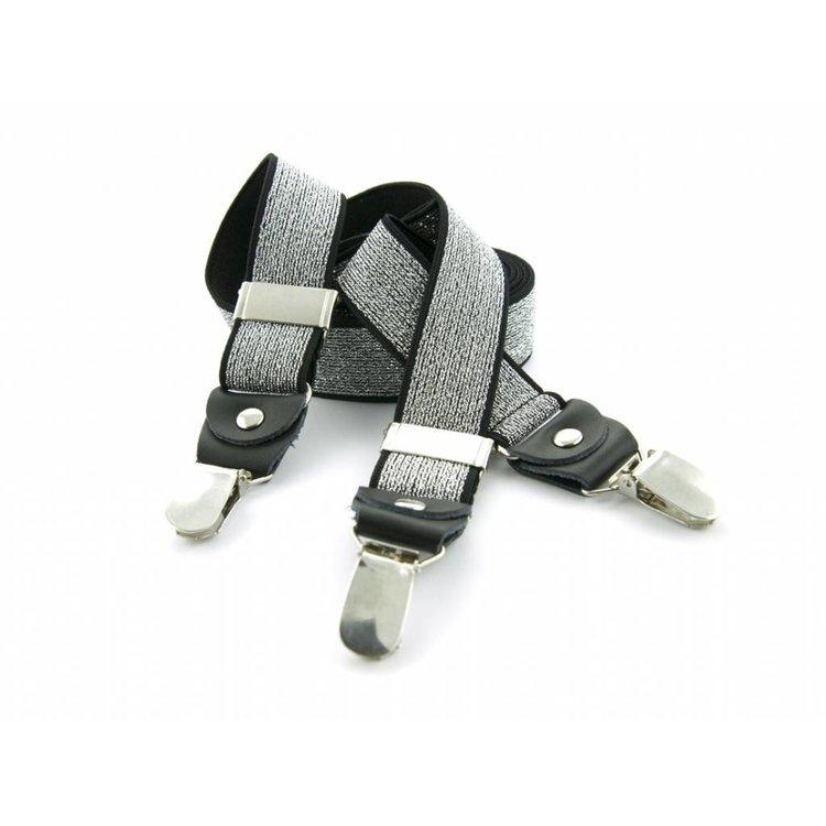 Bretels elastiek 35mm Zilver