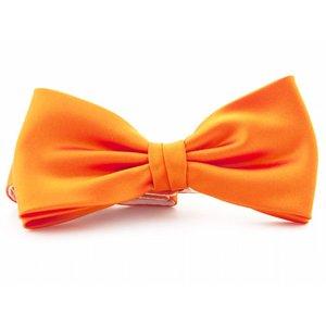 Vlinderstrik polyester-satijn Oranje