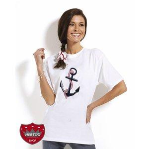 T shirt met een Anker print in 3 kleuren