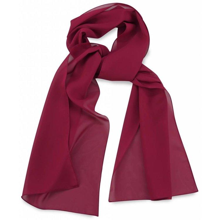 Polyester sjaal Bordeauxood 30x140cm