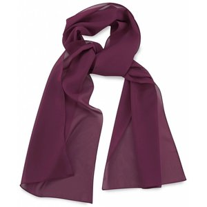Polyester sjaal Aubergine 30x140cm