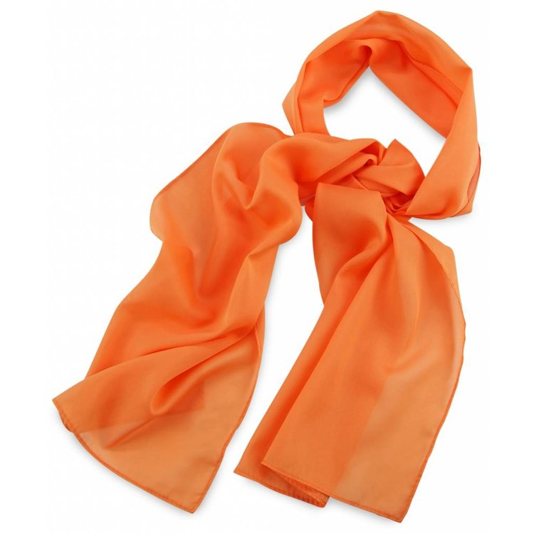 Polyester sjaal Oranje 30x140cm