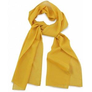 Polyester sjaal Geel 30x140cm