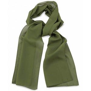 Polyester sjaal Legergroen 30x140cm