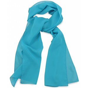 Polyester sjaal Turquoise 30x140cm