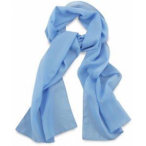 Polyester sjaal Lichtblauw 30x140cm