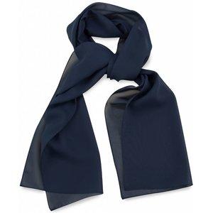 Polyester sjaal Marineblauw 30x140cm