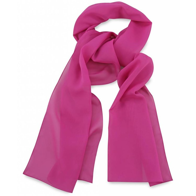 Polyester sjaal Fuchsia 30x140cm