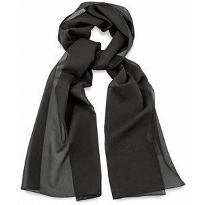 Polyester sjaal Zwart 30x140cm