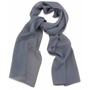 Polyester sjaal Grijs 30x140cm